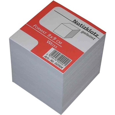 Herlitz Bloc-notes cube, 90 x 90 mm, 80 g/m2, blanc 146225