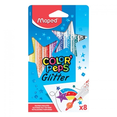 Maped Feutre Glitter COLOR'PEPS, étui de 8 en carton