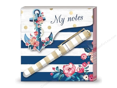 Bloc notes & stylo flowers Lady Jayne