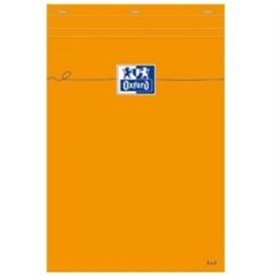 Oxford bloc-notes, A5, quadrillé, 80 feuilles, orange 100106280