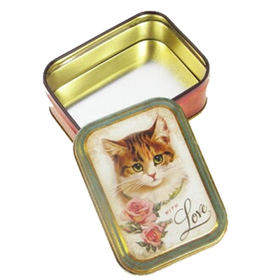 Boîte rectangulaire With Love Cat Elitetins
