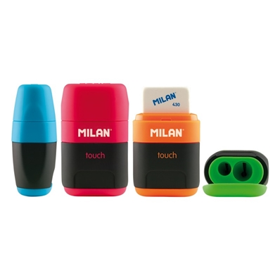 Taille-crayon + gomme + 2 gommes de recharge Milan