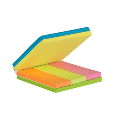 Post-it Multi-notes, 76 x 76 / 25 x 76 mm,couleurs assorties 2028A