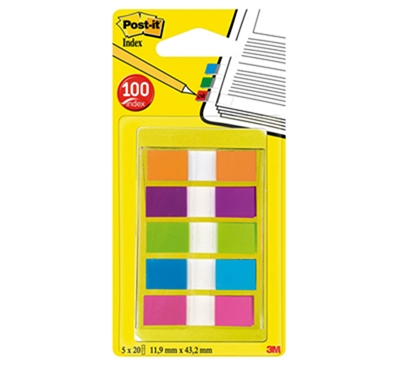 Post-it Marque-pages Index mini, 11,9 x 43,2 mm 683-5CB2